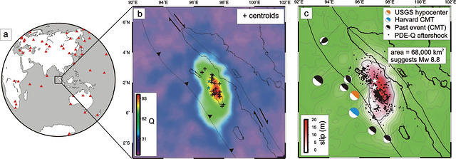 Rapid Imaging of Large Earthquake Rupture Zones with P waves - Figure 1