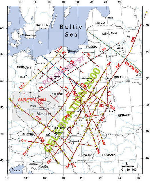 PASSCAL Experiments in Central Europe Target Lithospheric Structure - Fig. 2