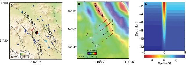 Characterizing the Calico Fault Damage Zone Using Seismic and Geodetic Data