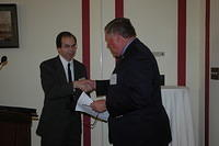 Craig Schiffries presents Congressman Norm Dicks with an award 3