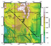 Lithospheric Structure of the Rio Grande Rift - Fig. 1