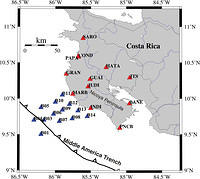Receiver Function Analysis of the Nicoya Peninsula, Costa Rica - fig. 1