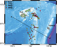 Detailed Structure and Sharpness of Upper Mantle Discontinuities in The Tonga Subduction Zone - fig. 1