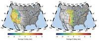 Mantle Heterogeneity West and East of the Rocky Mountains