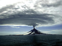 Augustine volcano in the Aleutians, March 27, 2006