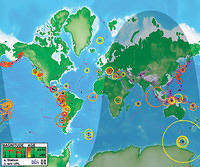Watch earthquakes as they occur