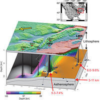 Seismic velocity contrasts possibly associated with the lithosphere-asthenosphere boundary under New England