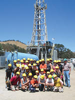 Students in the SCEC undergraduate internship programs visiting SAFOD site at Parkfield