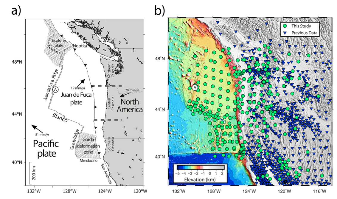 on cascadia fault line map