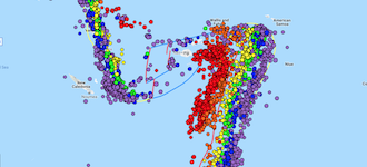 Deep earthquakes in the depths of the ocean