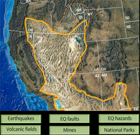 Basin and Range: Tectonics