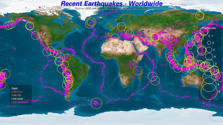 World Earthquake Map Live ~ AFP CV