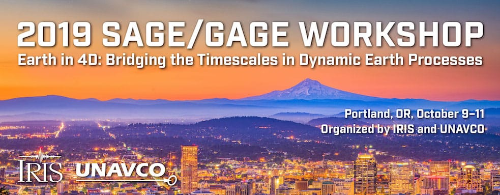 2019 SAGE/GAGE Workshop: Earth in 4D: Bridging the Timescales in