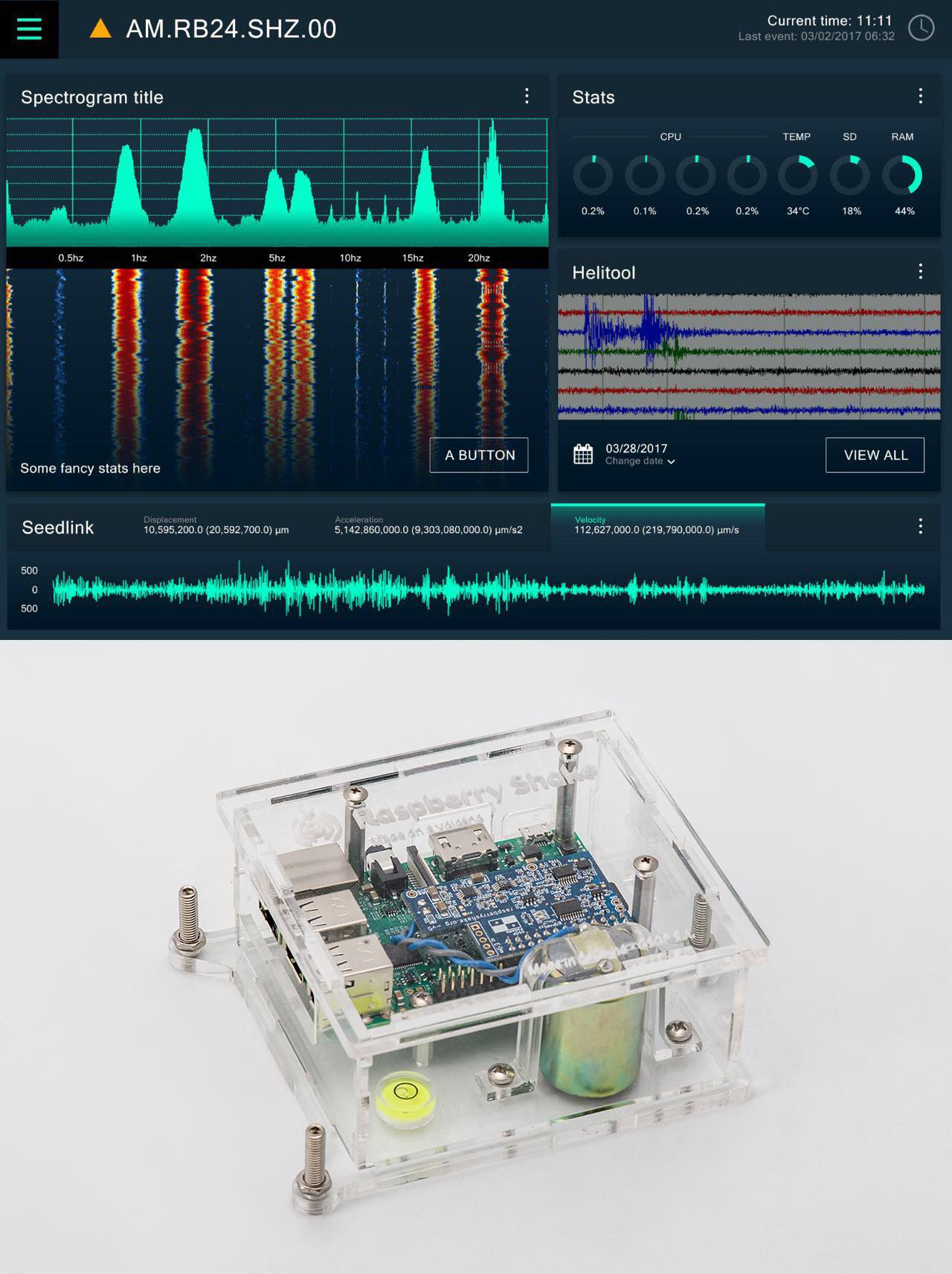 raspberry shake (rs) is an easy to use, plug-and-play classroom seismograph  compatible with jamaseis and swarm educational software
