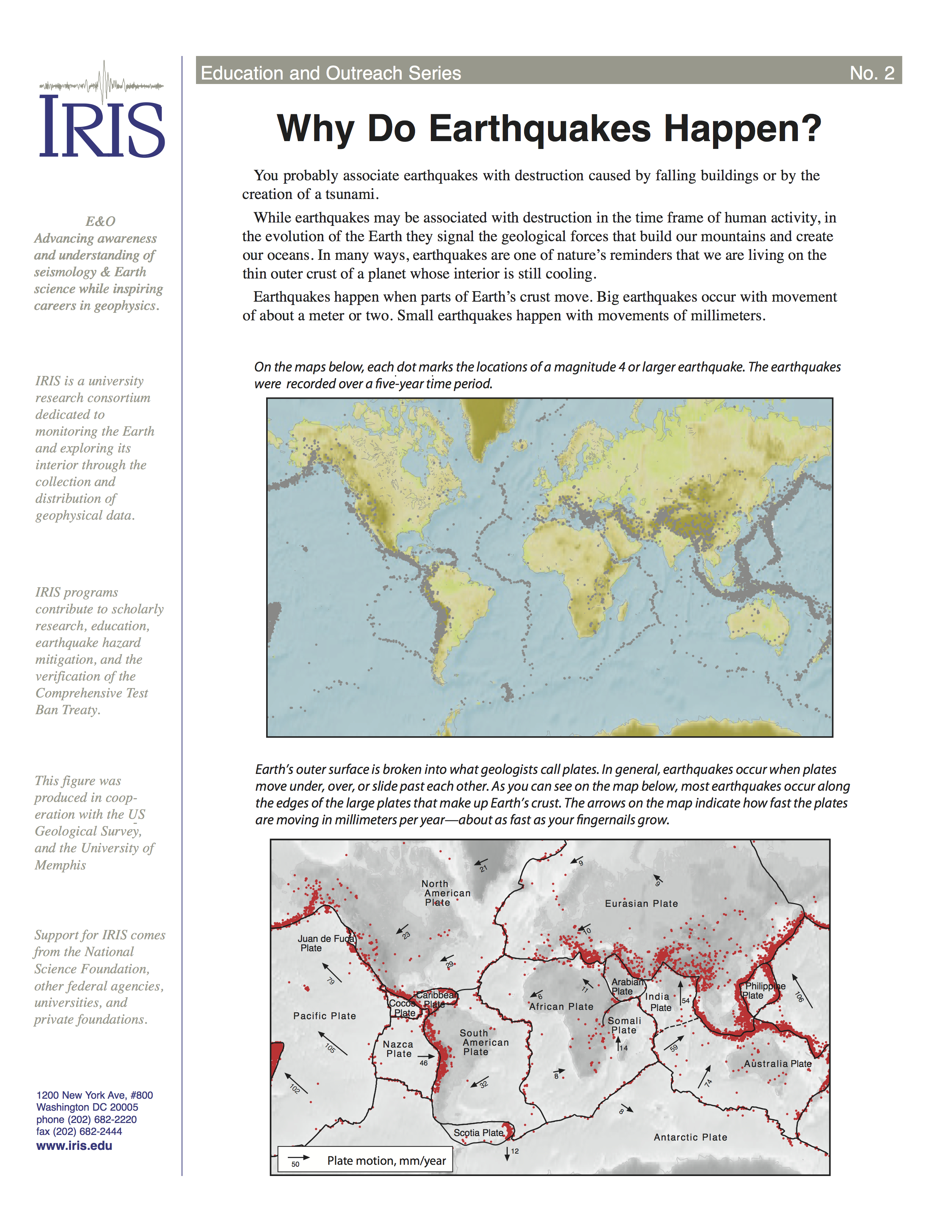 Why Do Earthquakes Happen Incorporated Research Institutions For - Washington dc earthquake map