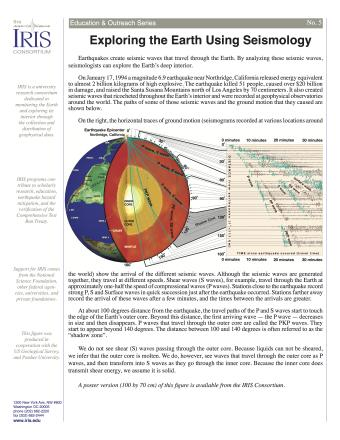 Printables Earthquakes And Seismic Waves Worksheet imaging earths interior with seismic waves incorporated research earthquakes create that travel through the earth by analyzing these seismologists can explore t