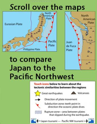 Learn how the Pacific Northwest tectonic setting and megathrust earthquake of January 1700 is similar to the catastrophic earthquake in Japan in 2011 by ...  sc 1 st  IRIS & Pacific Northwest vs Japan: Similar tectonic settings- Incorporated ...