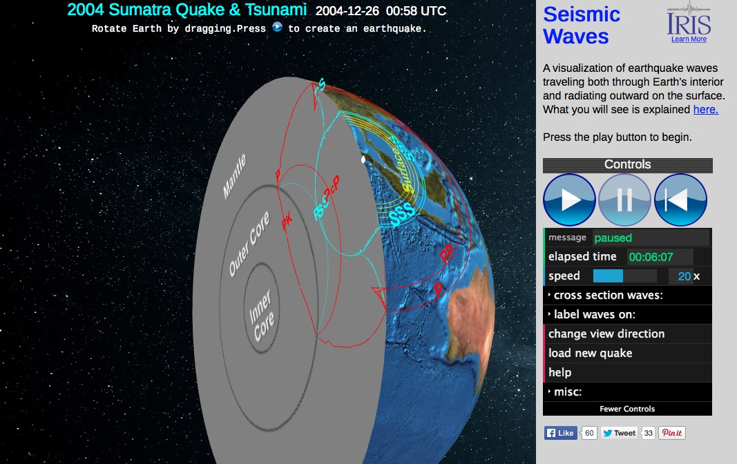 Seismic Waves Viewer- Incorporated Research Institutions for