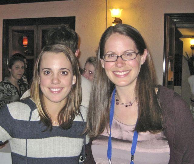 McCormack and Long at 2011 IRIS internship alumni reception at the Fall AGU Meeting