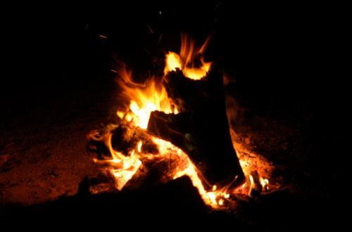 The closing bonfire in San  Lorenzo Canyon is an annual favorite