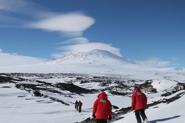 Czoski and colleagues near Mt. Erebus